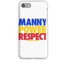 MANNY POWER RESPECT - Pacquiao by AiReal Apparel  iPhone Case/Skin