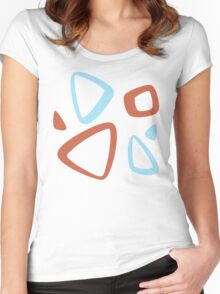 Togepi Pattern Women's Fitted Scoop T-Shirt