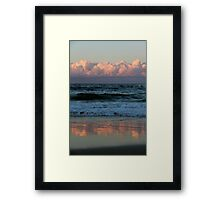 Clouds Above and Below Palm Beach Framed Print