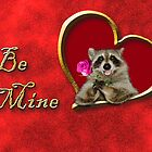 Be Mine Raccoon by jkartlife
