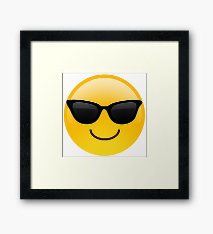 Cool Emoji Framed Print