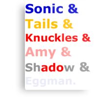 Sonic &Tails & .. Metal Print