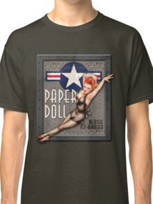 """Paper Doll"" WWII Nose Art Classic T-Shirt"