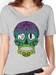 NOLA Skull Women's Relaxed Fit T-Shirt