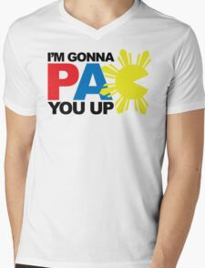 Pacquiao PAC YOU Up by AiReal Apparel Mens V-Neck T-Shirt