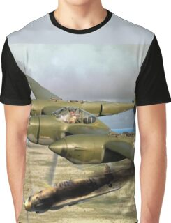 P-38 Forked Tail Devil Graphic T-Shirt