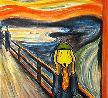 Art Giraffe- The Scream by Sundayink