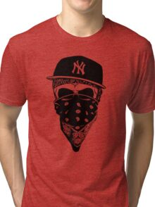 Gangsta Skull Tri-blend T-Shirt