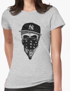 Gangsta Skull Womens Fitted T-Shirt