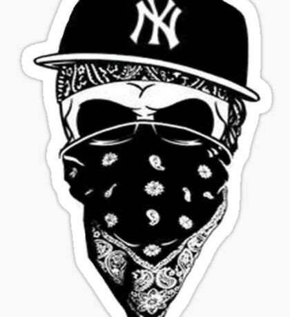 Gangsta Skull Sticker