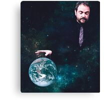 He's got the world on a string Canvas Print