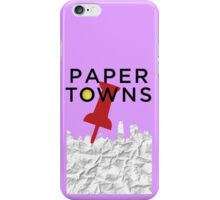 Paper Towns - Pin iPhone Case/Skin