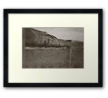 The Barbed Wire Fence Framed Print