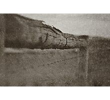 The Barbed Wire Fence Photographic Print