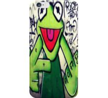 Kermit the Frog says fu iPhone Case/Skin