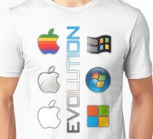 Mac and PC's Evolution Unisex T-Shirt