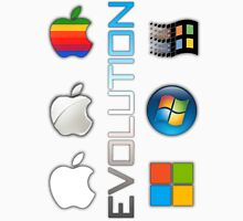 Mac and PC's Evolution Unisex T-Shirt