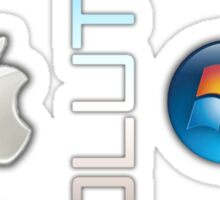 Mac and PC's Evolution Sticker