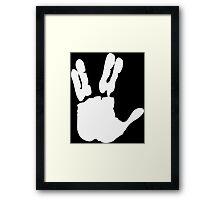Vulcan Salute Framed Print