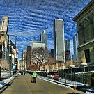 1 Prudential Plaza Skyscraper, Chicago, as seen from the Art Institute  by Jack McCabe