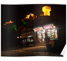 The Golden Temple at night Poster