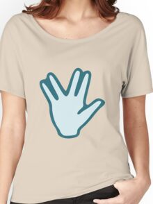 Vulcan Salute Women's Relaxed Fit T-Shirt
