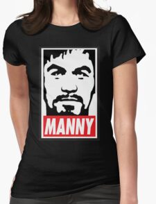 Obey Manny Pacquiao by AiReal Apparel Womens Fitted T-Shirt