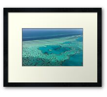 Birds eye view - Great Barrier Reef Framed Print