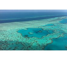 Birds eye view - Great Barrier Reef Photographic Print