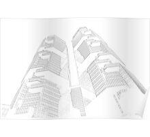 Skyscrapers in Hong Kong Poster
