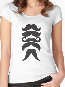 Moustache Overload Women's Fitted Scoop T-Shirt