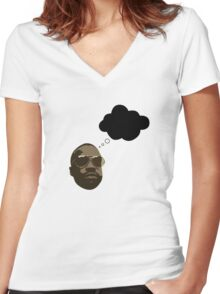 Black Thought from The Roots Women's Fitted V-Neck T-Shirt