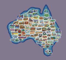 Pictorial Australia T-Shirt Kids Tee