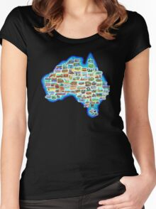 Pictorial Australia T-Shirt Women's Fitted Scoop T-Shirt