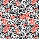 Graphic floral pattern by Tanor