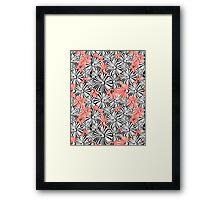 Graphic floral pattern Framed Print