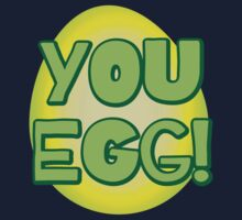 You EGG! with cracked egg NEW ZEALAND KIWI funny design by jazzydevil