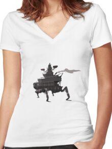 Surveillance Mech Women's Fitted V-Neck T-Shirt