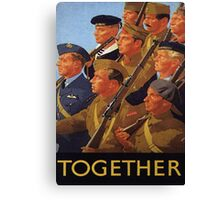 Allies March Together Canvas Print
