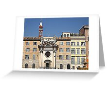 BUILDINGS IN THE SQUARE OF THE PEOPLE IN ROME Greeting Card