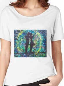 Night Lovers Circle Women's Relaxed Fit T-Shirt