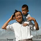 Grandfather and Grandson. by PhotoRetrofit
