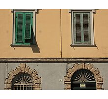 Feature facade with windows Photographic Print