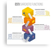 ESTJ Sarcastic Functions Canvas Print
