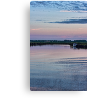 Sunset on the River Yare Canvas Print