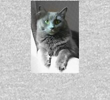 Green Eyed Gray Cat Unisex T-Shirt