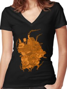 Teams Moving Fortress Women's Fitted V-Neck T-Shirt