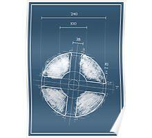 Team Fortress Logo Blueprint BLU Poster