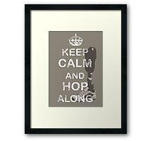 Keep Calm and Hop Along Framed Print