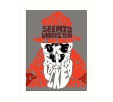 Rorschach typography Art Print